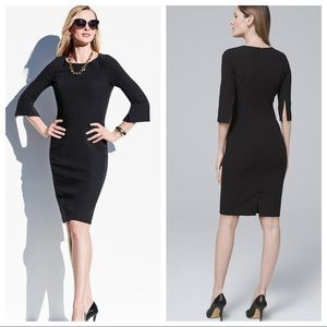 NWT WHBM BODY PERFECTING BLACK SHEATH DRESS